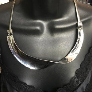 Chico's Silver Statement Necklace